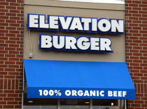 Elevation Burger store front Stock Photos