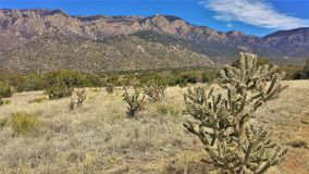 Elena Gallegos Open Space in Albuquerque. At an elevation of 6500 feet, this 640-acres park sits at the base of the Sandia mountains in Albuquerque, New Mexico Royalty Free Stock Photo