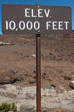 Elevation 10000 Feet Sign Stock Photo