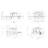 Elevation home drawing Stock Photography