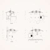 4 elevation house Drawing Royalty Free Stock Photography