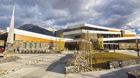 Elevation Place Recreation Facility in Canmore Alberta Canada Royalty Free Stock Photos