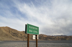 Elevation Sea Level Sign Royalty Free Stock Images