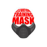 Elevation Training mask fitness. sports accessory for Athlete Royalty Free Stock Images