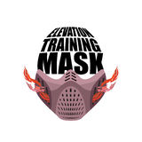 Elevation Training mask fitness. sports accessory for Athlete Stock Photography