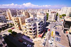 Elevation view of new construction, Limassol, Cyprus Stock Photos