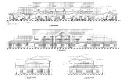 Elevations drawing of office building suites Royalty Free Stock Images