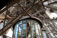 Elevator. The Elevator in the Effel Tower in Paris Royalty Free Stock Photo