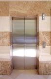Elevator. Empty contemporary interior with elevator steel doors Royalty Free Stock Image