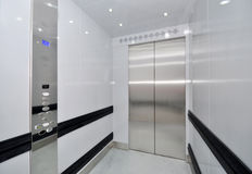 Elevator. In interior of commercial centre Stock Photo