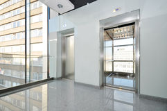 Elevator. In interior of commercial centre Royalty Free Stock Image