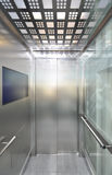 Elevator. In interior of commercial centre Stock Image