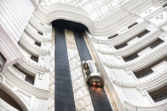 Elevator. In white modern building Stock Photo