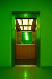 Elevator. Inside of a lift, as the doors have opened. Soft focus Stock Photography