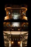 Elevator. Santa Justa elevator in Lisbon at night Royalty Free Stock Image