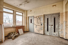 Elevator in an abandoned hospital Royalty Free Stock Images