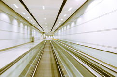 The elevator in the airport Royalty Free Stock Images