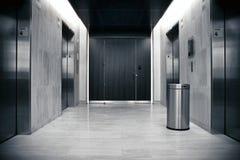 Elevator bank Stock Photography