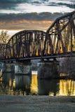 Elevator Bridge. Railroad elevator bridge over the Arkansas River in Van Buren, Arkansas Royalty Free Stock Photo