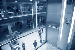 Elevator in business center Stock Photo