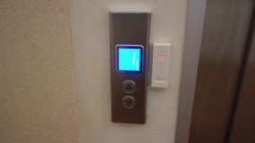 The elevator button stock video footage