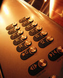 Elevator Buttons. Close-up shot of elevator buttons Royalty Free Stock Photos