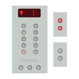 Elevator buttons panel Stock Photos