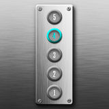 Elevator buttons panel Stock Images