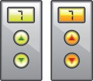 Elevator Buttons vector. Elevator Buttons buttons vector eps file Royalty Free Stock Photos