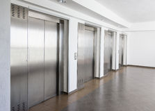 Elevator cabin stainless steel Stock Photos