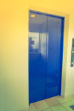 Elevator with closed door .  ( Filtered image processed vintage Stock Images