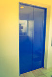 Elevator with closed door .  ( Filtered image processed vintage Stock Photo