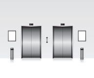 Elevator with closed door. Illustration Stock Photos