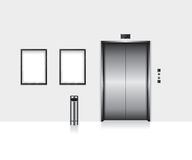 Elevator with closed door illustration Royalty Free Stock Image