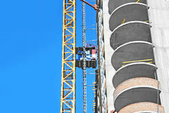 Elevator on construction site Stock Image