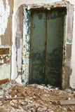 Elevator in decaying building Stock Photo