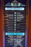 Elevator directory. Directory, Cruise ship Celebrity Reflection, Celebrity Cruises Royalty Free Stock Photos