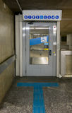 Elevator for disabled person in subway station Royalty Free Stock Photography
