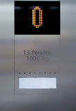 Elevator display Royalty Free Stock Images