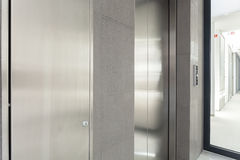 Elevator door in a business centre Royalty Free Stock Photography