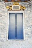 Elevator door in Chinese temple. Stock Photos