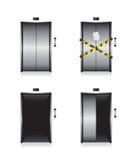 Elevator door illustration Royalty Free Stock Image