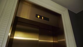 Elevator in a building. Elevator doors in a building stock video