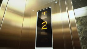 Elevator in a building. Elevator doors in a building stock video footage