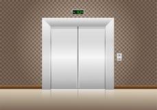 Elevator doors closed Stock Photo