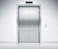 Elevator Doors Closed Stock Photography