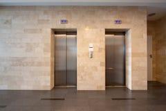 Elevator doors in lobby Royalty Free Stock Photo