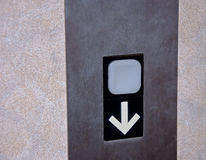 Elevator Down Button Royalty Free Stock Photos