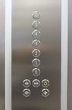 Elevator floor numbers Stock Images