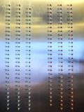 Elevator floors indicator. Elevator floor panels and buttons Royalty Free Stock Images